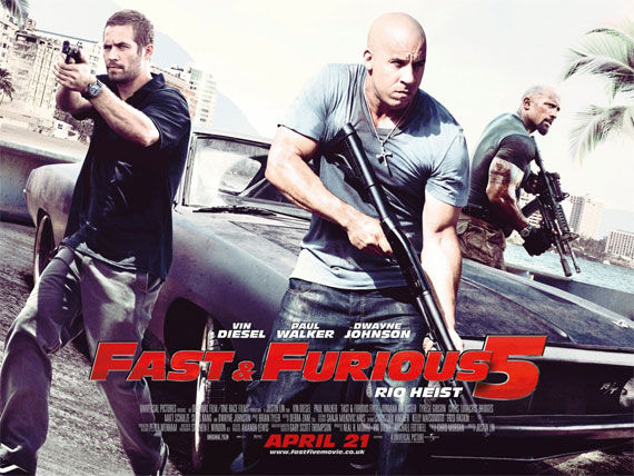 fast five quad movie poster Movie Poster Roundup: Thor, Pirates of the Caribbean 4, Your Highness & More