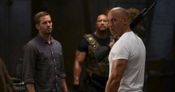 Paul Walker Dwayne Johnson and Vin Diesel in Fast & Furious 6