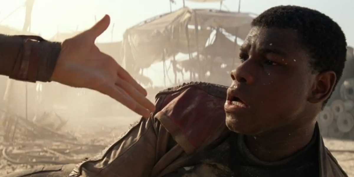 finn rey hand star wars Star Wars: The Force Awakens   Record Breaking Blockbuster AND New Age Psychology Resource?