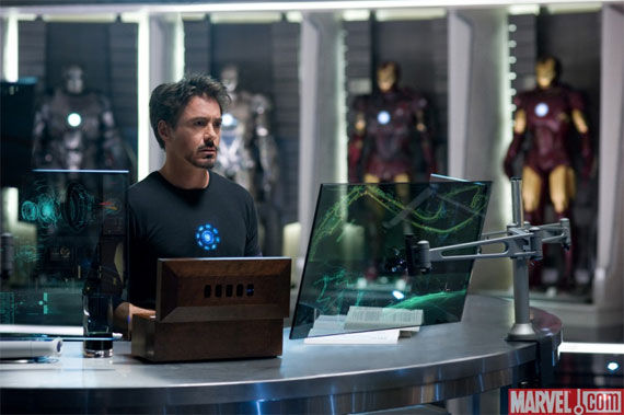 first iron man 2 image1 First Official Pic From Iron Man 2: Hall Of Armor!