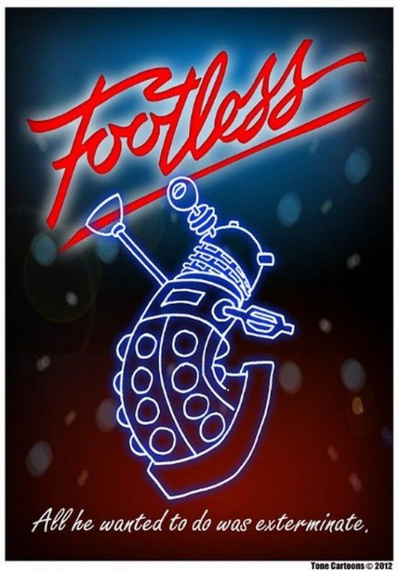 footless dalek 570x814 SR Geek Picks: Fresh Prince & Carlton Dance Reunion, The Truth Behind Disney Movies & More!