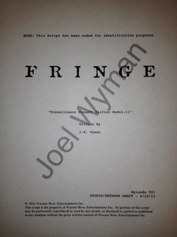 fringe season 5 premiere script 570x760 Fringe Season 5 Premiere Details Revealed; Jeff Pinkner Leaving Series