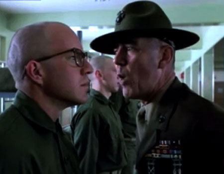 R. Lee Ermey as Gunnery Sargent Hartman in Full Metal Jacket