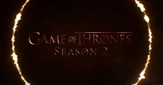 game of thrones season 2 logo fire Game of Thrones Season 2 Trailer: Kings Prepare to Clash