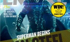 general zod man steel cover 280x170 New Man of Steel Magazine Covers   Superman and General Zod Go to War