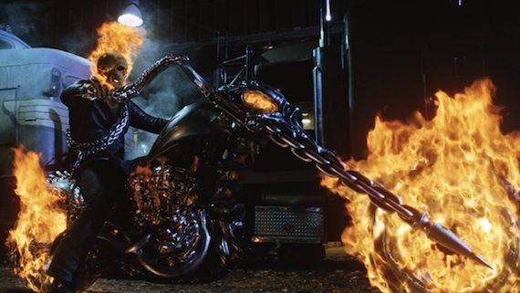 ghost rider hellcycle Nicolas Cage Returning to Blaze in 'Ghost Rider 2′ [Updated]