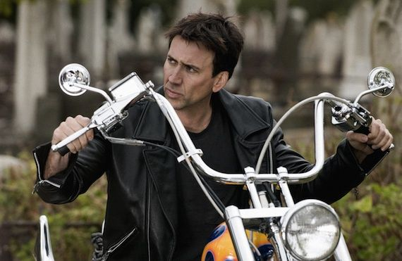ghost rider nicolas cage Nicolas Cage Returning to Blaze in 'Ghost Rider 2′ [Updated]