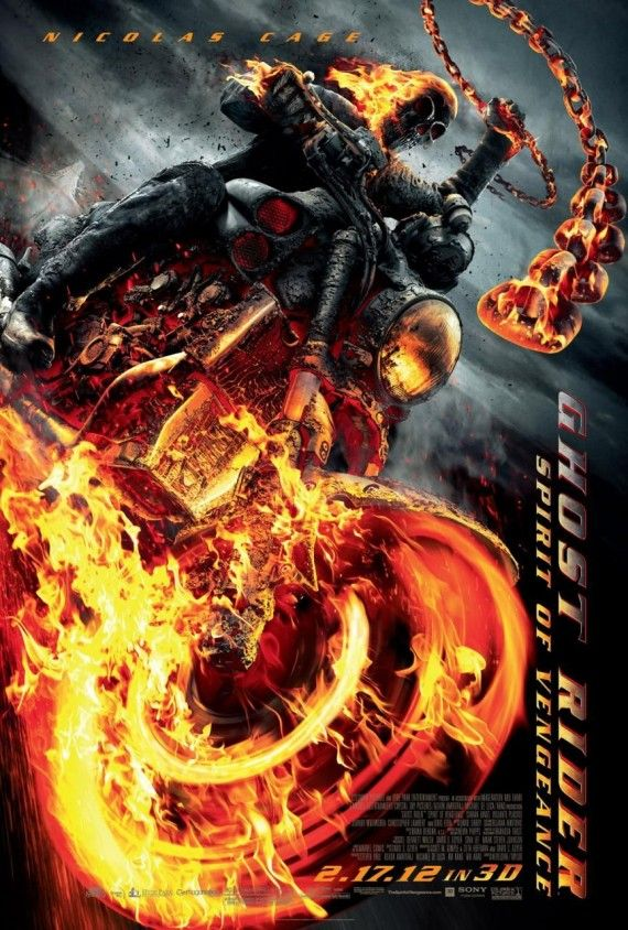 ghost rider spirit vengeance poster 570x844 Ghost Rider: Spirit of Vengeance poster
