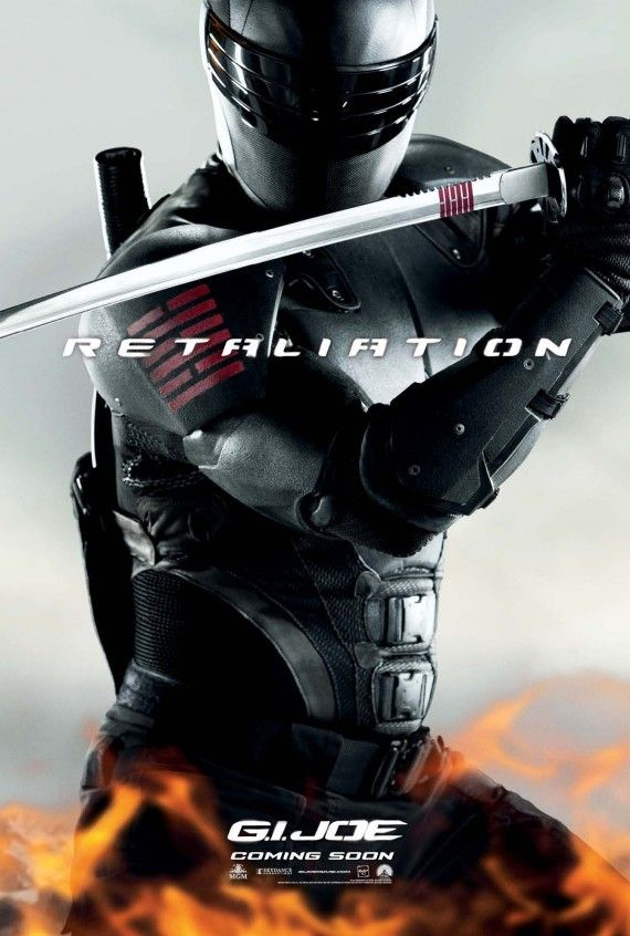 gi joe retaliation snake eyes poster 570x846 Snake Eyes Poster for G.I. Joe: Retaliation