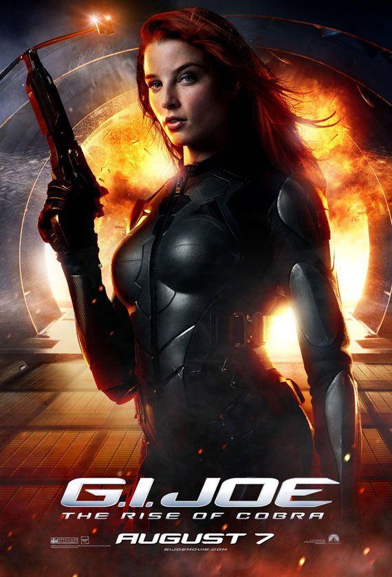 gijoe scarlett rachel nichols New Posters For G.I. Joe & Shane Ackers 9