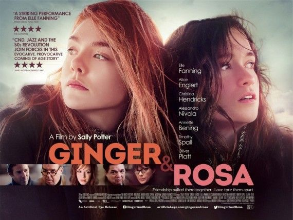 ginger rosa poster 570x429 Ginger & Rosa Trailer: Love, Innocence and Revolution in the 1960s