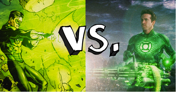 green lantern comic books versus movie Green Lantern: The Comic Books vs. The Movie