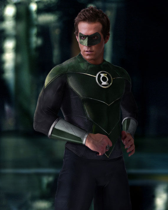 green lantern ryan reynolds as hal jordan in costume fan photo Ryan Reynolds Discussion: Deadpool, Green Lantern & More!