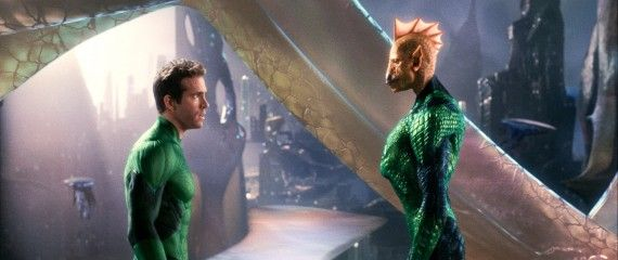green lantern ryan reynolds with tomar re played by geoffrey rush 570x240 Green Lantern Hi Res Image Roundup