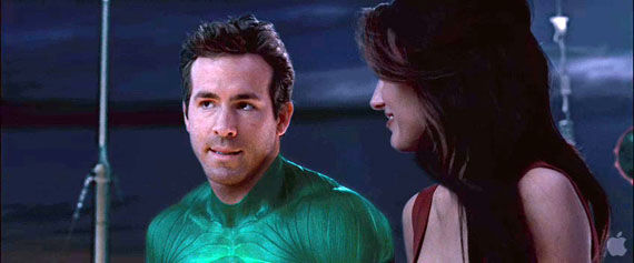 green lantern trailer102 Ryan Reynolds as Hal Jordan wearing the costume