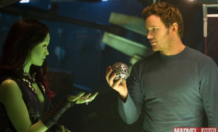 guardians galaxy gamora star lord 700x425 New Guardians of the Galaxy Production Images Tease Marvels Space Adventure
