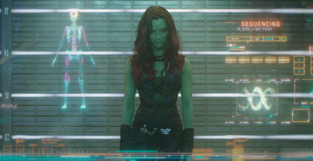 guardians galaxy gamora zoe saldana Karen Gillan Talks Guardians of the Galaxy Fight Scene with Zoe Saldana