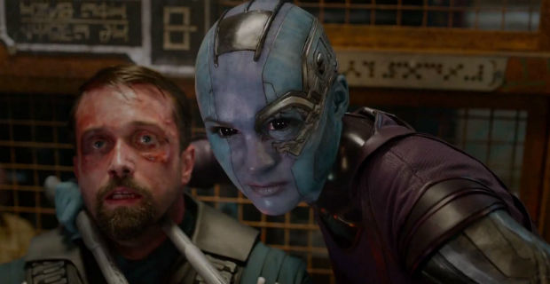 guardians galaxy nebula karen gillan Karen Gillan Talks Guardians of the Galaxy Fight Scene with Zoe Saldana