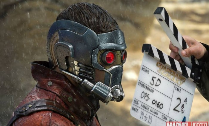 guardians galaxy star lord helmet 700x425 New Guardians of the Galaxy Production Images Tease Marvels Space Adventure
