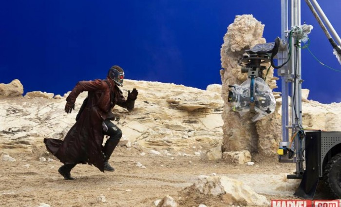 guardians galaxy star lord image 700x425 New Guardians of the Galaxy Production Images Tease Marvels Space Adventure