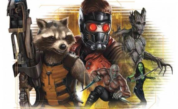 guardians of the galaxy cast artwork 570x350 Guardians of the Galaxy Promo Images; Michael Rooker Calls Film a Beautiful Shoot