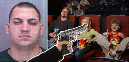 gun in movie theatre Talking During A Movie? Say Allo To My Leetle Friend