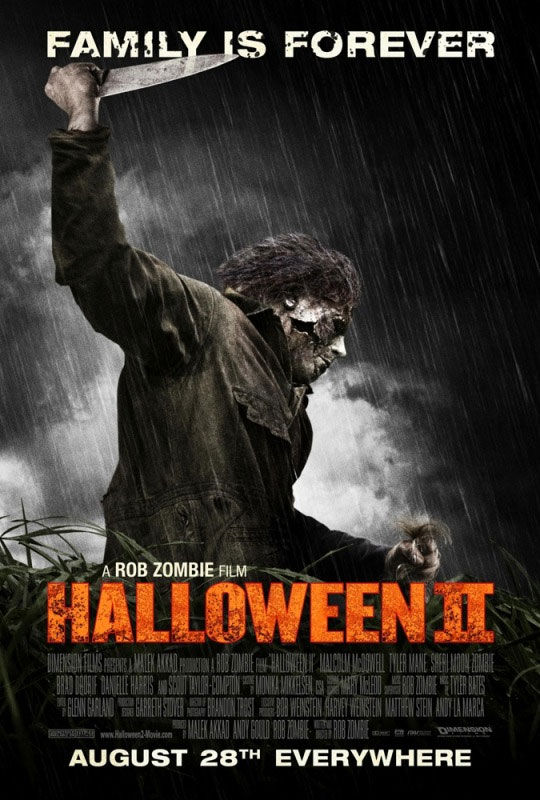 halloween 2 poster1 New Poster & Trailer For Rob Zombies Halloween 2