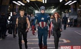 hawkeye captain america black widow avengers 280x170 New Avengers Images: Superheroes United & Angry Hulk