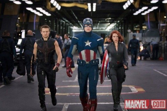 hawkeye captain america black widow avengers 570x380 Rumor Patrol: Captain America 2 Characters & S.H.I.E.L.D. Connection