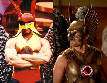 Bill Nuckols and Michael Shanks as Hawkman