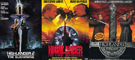 highlander 2 3 4 Movies & TV Shows Geeks Pretend Dont Exist