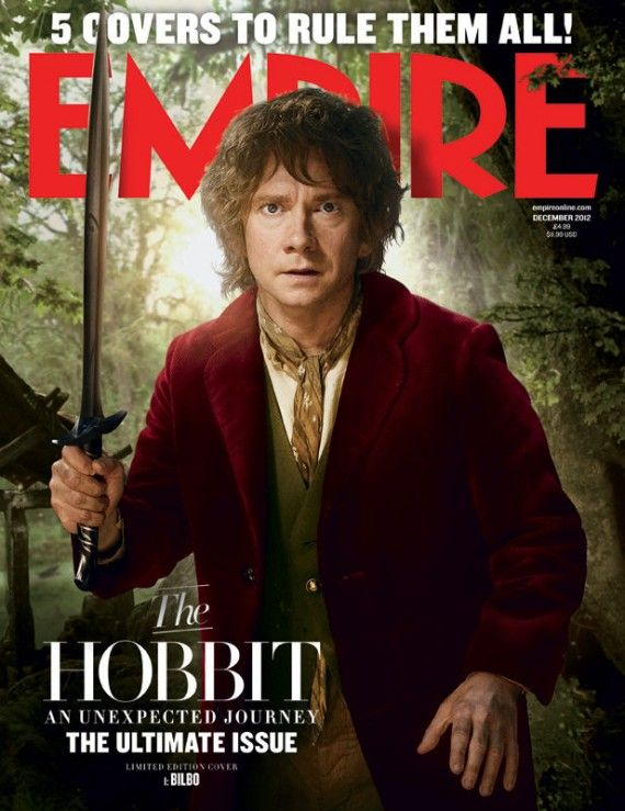 hobbit cover bilbo 570x739 The Hobbit Magazine Cover with Martin Freeman as Bilbo Baggins