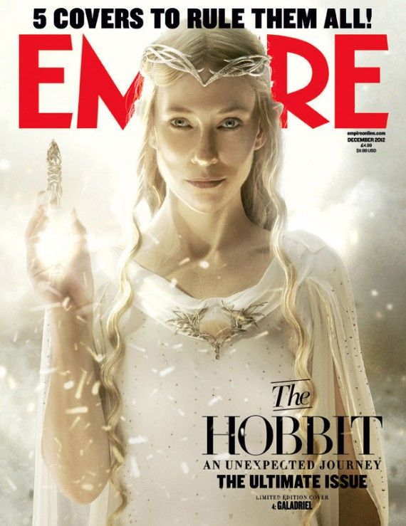 hobbit cover galadriel 570x739 The Hobbit Magazine Cover with Cate Blanchett as Galadriel