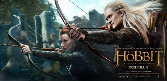 hobbit desolation smaug legolas tauriel banner 570x277 The Hobbit: The Desolation of Smaug   Tauriel and Legolas