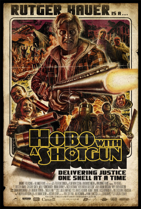 hobo with a shotgun poster Movie Poster Roundup: Paul, Thor, Hobo with a Shotgun, and More