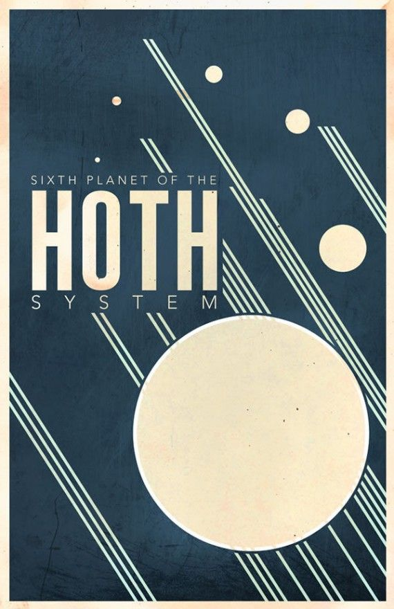 hoth travel poster 570x880 SR Pick: Cool Minimalist Star Wars Travel Posters