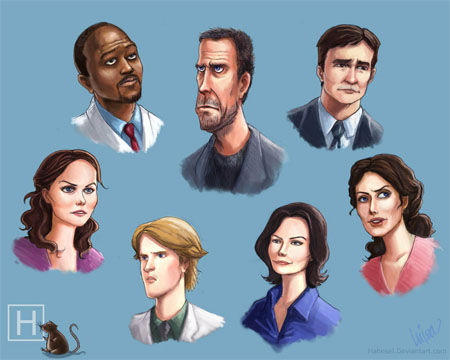House Fan Art - Cast