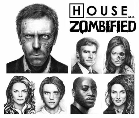 House Fan Art - Zombified