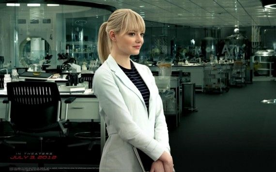 hr The Amazing Spider Man 30 570x355 Emma Stone as Gwen Stacy in The Amazing Spider Man