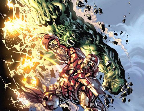 hulk vs iron man Hulk Smash Puny Avengers?