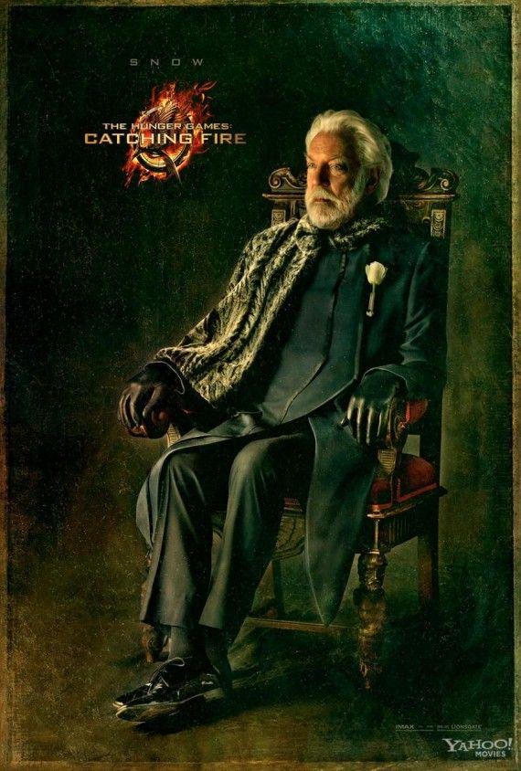 hunger games catching fire president snow 570x844 President Snow Portrait for Catching Fire