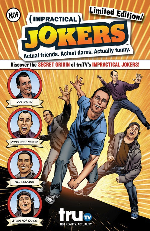 impractical jokers comic book Impractical Jokers Renewed for Season 3; Diner Takeover During Comic Con