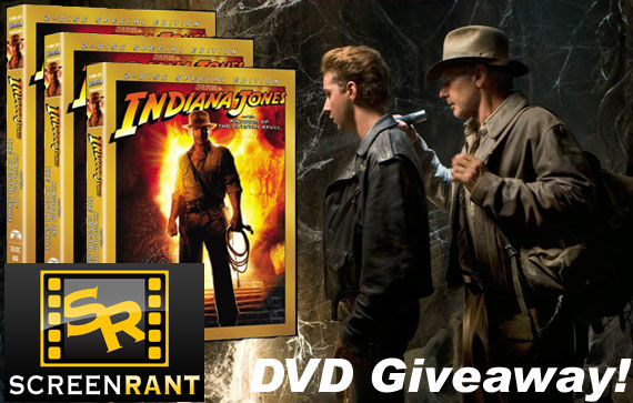 indiana jones dvd giveaway Indiana Jones 4 Special Edition DVD Giveaway [WINNERS!]