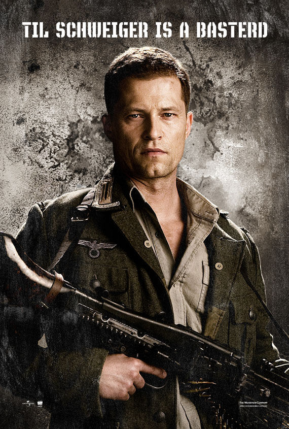 inglourious basterds til schweiger New Posters: Inglourious Basterds, Public Enemies, Transformers 2 & More!