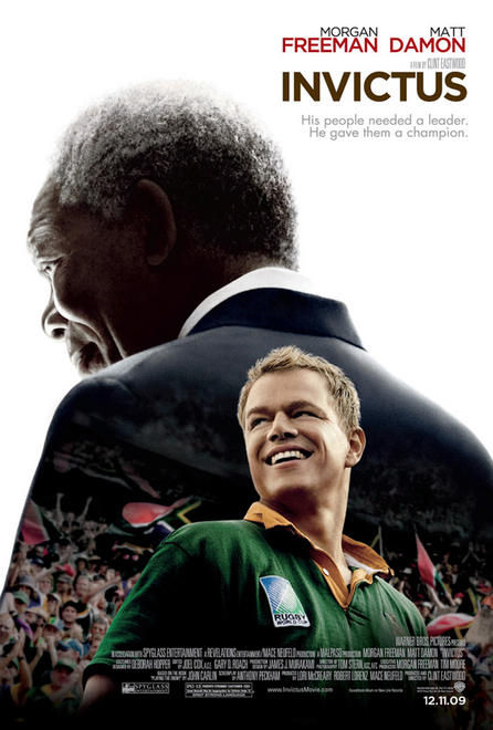 invictus poster matt damon morgan freeman Poster Friday: Youth in Revolt, Invictus, Heavy Metal & More!