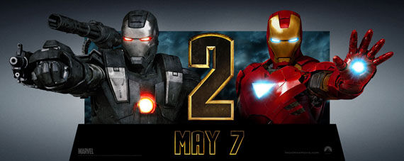 iron man 2 and war machine standee Iron Man 2 Character Posters & More!