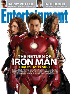 iron man 2 ew cover [Update] First Look at Scarlett Johanssons Black Widow!
