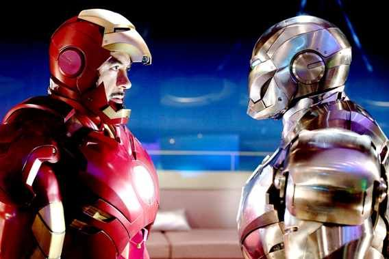 iron man 2 promo 2 war machine robert downey jr don cheadle Iron Man 3: Don Cheadle On War Machine & Iron Mans Relationship and Big Action Sequences