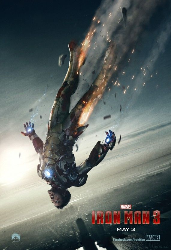 iron man 3 poster 570x831 Iron Man 3 Super Bowl Teaser and Poster: Hard Times for Tony Stark