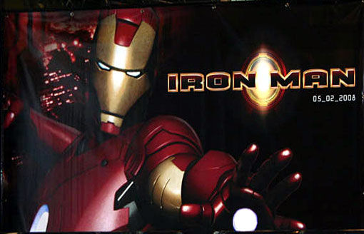 Iron Man movie display